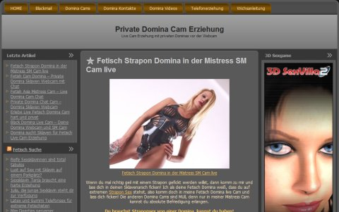 Private Domina Cam Erziehung