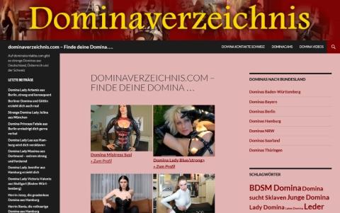 Domina Kontakte und Webseiten