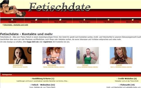 Fetischdate.ch - Dein Fetisch Inserate-, Kontaktanzeigen- und Eventmarkt