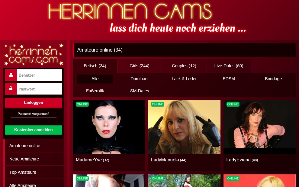 Herrinnen Cams Herrin Cam Mistress Webcam