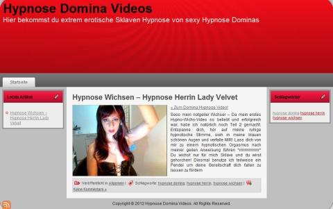 Zur Seite... Hypnose Domina Videos - Hypnose Wichsen, Hypnose Wichsanleitung, Hypnose Fetisch!